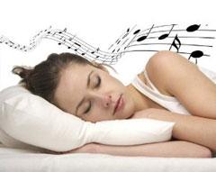Sanft entschlummern am Musikkissen