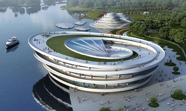 Radio loungefmfahrradtaugliche architektur f r die gr ne insel bei shanghai radio loungefm - Grune architektur ...